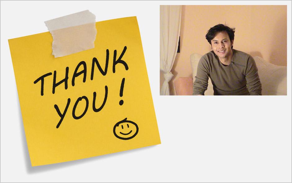 Tom Shanon thank you livre d'or